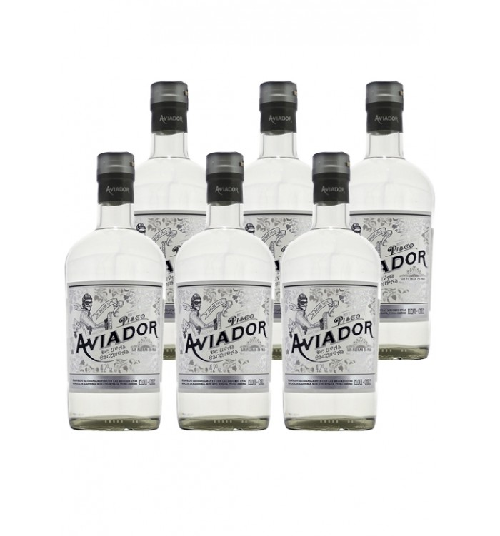6x Pisco Aviador 42º 750cc